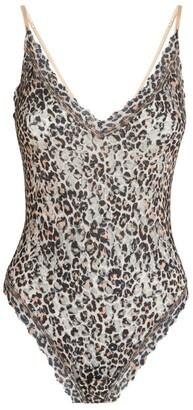 Hanky Panky Leopard Print Thong Bodysuit
