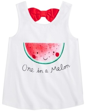 First Impressions Toddler Girls Cotton Watermelon Bow-Back Tank Top, Created for Macy's