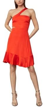 BCBGMAXAZRIA Asymmetrical-Strap Side-Cutout Dress