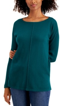 Style&Co. Style & Co Seamed Cotton Tunic, Created for Macy's