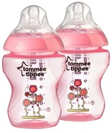 Tommee Tippee Closer To Nature 9 oz Deco Bottle (2pk) - Pink