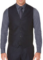 Perry Ellis Solid Twill Vest