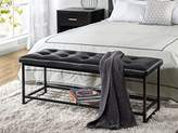 Zinus Faux Leather Tufted / Hallway / Entry / Bed / 48 Inch Bench with Storage Shelf
