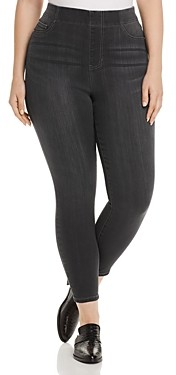 Liverpool Los Angeles Plus Liverpool Plus Chloe High-Rise Skinny Ankle Jeans in Meteorite