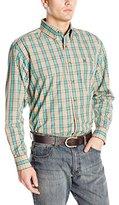 Wrangler Men's Classic Long Sleeve Khaki/Green Shirt