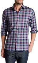 James Tattersall Long Sleeve Classic Fit Plaid Shirt