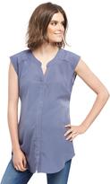 Motherhood Cap Sleeve Tie Detail Maternity Tunic