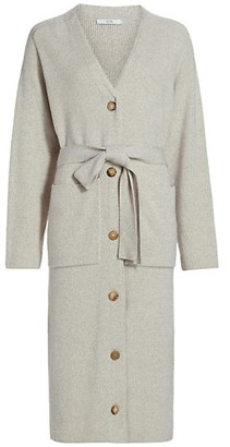 Co Belted Wool & Cashmere Cardigan