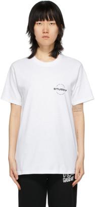 Stussy White City Circle T-Shirt
