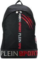 Plein Sport logo patch backpack