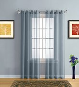 Warm Home Designs Extra Long Dusty Blue (Slate) Sheer Window Curtains with Grommet Top for Bedroom, Kitchen, Kids Room or Living Room, 2 Voile Panel Drapes 54-Inch-by-108-Inch - K Dusty Blue 108""