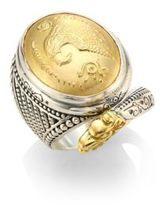 Konstantino Gaia Snake-Detail Oval Ring