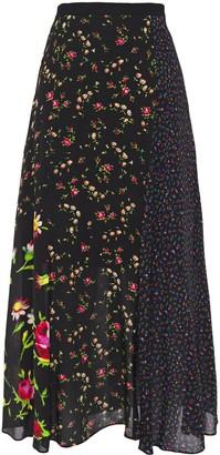 McQ Floral-print Crepe De Chine Midi Skirt