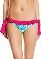 Pour Moi? Pour Moi 7104 Aloha Tie Side Bikini Brief Bottoms L