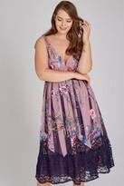 Little Mistress Curvy Everly Floral Midi Tea Dress