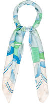 Hermes Fleurs de Lotus Silk Scarf