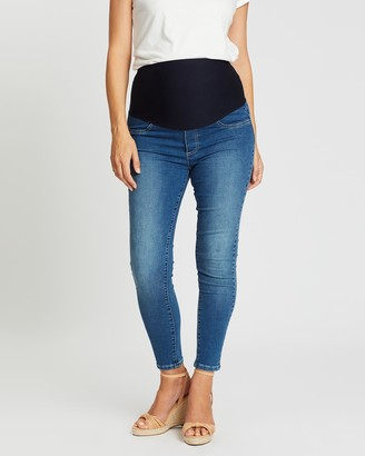 Angel Maternity Women's Blue Slim - High-Waist Slim Jeans - Size One Size, S at The Iconic