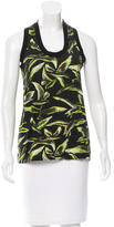 Emilio Pucci Bird Patterned Sleeveless Top