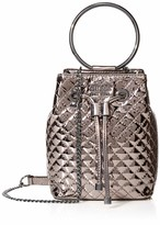 GUESS Mini Me Quilted Patent Bucket