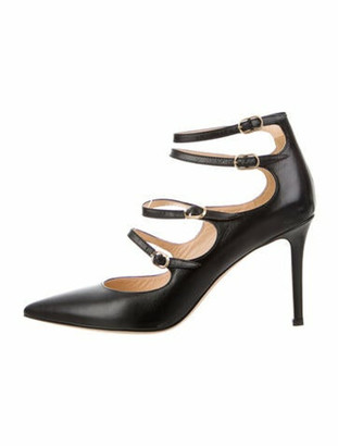 Marion Parke Leather Pumps Black