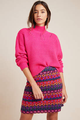 Hutch Ellen Embroidered Mini Skirt