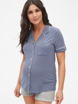 Gap Maternity Button-Front Sleep Top in Modal