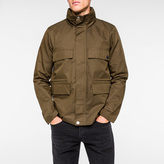 Paul Smith Men's Khaki Lightweight Cotton-Blend Field Jacket