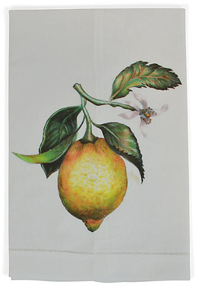 Lemon Guest Towel - White - The French Bee