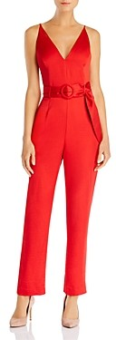 WAYF Trista Belted Jumpsuit