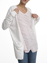 White + Warren Cotton Slub Pocket Cardigan