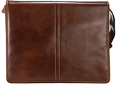 Visconti Brown Leather Messenger Bag