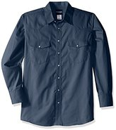 Wrangler Men's Big and Tall Wrinkle Resist Western Long Sleeve Woven Shirt