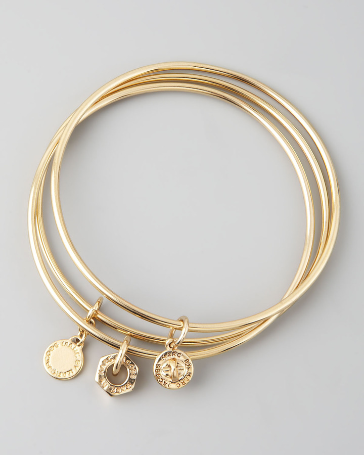 Marc by Marc Jacobs Classic Icons Bangle Set, Golden