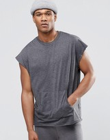 Asos Loungewear Oversized T-Shirt With Kangaroo Pocket