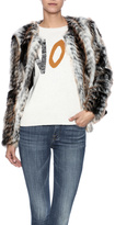 rebecca elliott Tan Faux-Fur Jacket