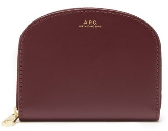 A.P.C. Half Moon Leather Wallet - Burgundy