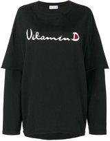 Drifter Black Filius printed layered top - women - Cotton - XS