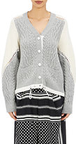 Sacai WOMEN'S LACE-TRIMMED CARDIGAN