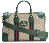 Gucci GG Supreme small duffel bag - men - Cotton/Leather - One Size