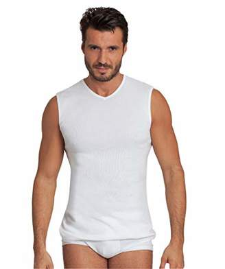 BASIC COTTON Free Spirit Premium Quality 100% Cotton Men's V - Neck T-Shirt. Proudly Made in Italy.