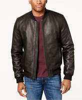 Cole Haan Men's Genuine Leather Varsity Jacket