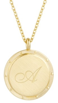 brook & york 14K Gold Plated Quinn Initial Pendant Necklace