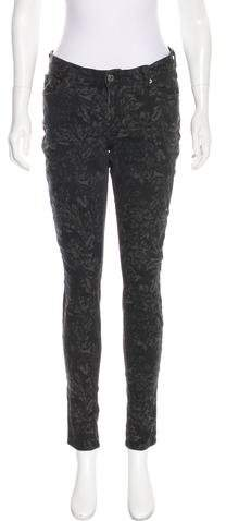 7 For All Mankind Patterned Mid-Rise Jeans