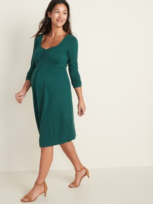 Old Navy Maternity Fit & Flare Ponte-Knit Dress