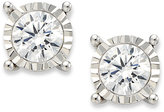 TruMiracle® Diamond Stud Earrings in 14k White Gold (1/3 ct. t.w.)