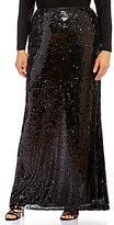 Adrianna Papell Plus Sequin Mermaid Skirt