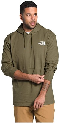 The North Face Heavyweight Half Half Pullover Hoodie (Mango Orange/Twill Beige) Men's Clothing