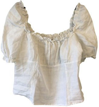 Reformation White Linen Top for Women