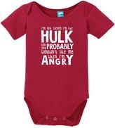 Sod Uniforms Not Saying Im The Hulk Onesie Funny Bodysuit Baby Romper