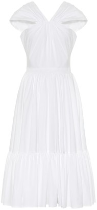Alexander McQueen Cotton-poplin midi dress